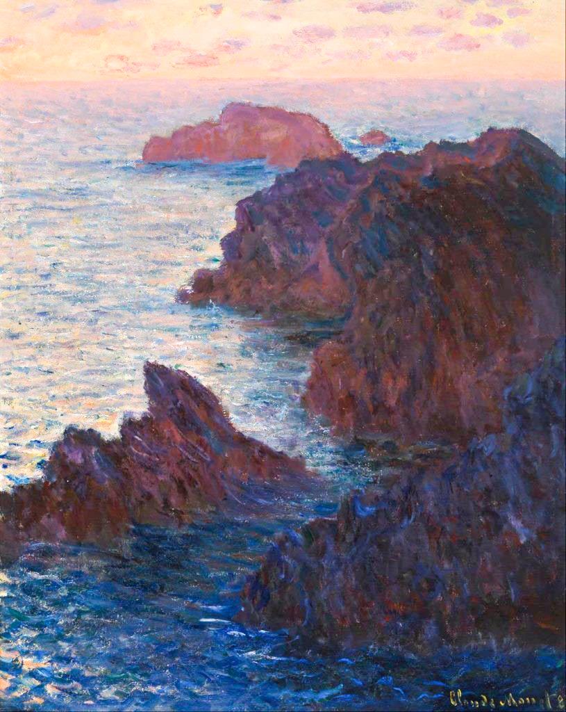 Claude Monet Rocks at Belle-Ile
