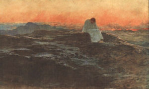 The Temptation in the Wilderness Briton Reviere, 1898