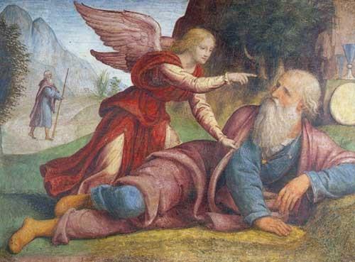 Elijah and the Angel by Bernardino Luini