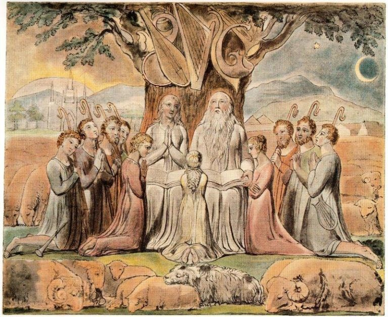 Job and his Family, William Blake, 1828